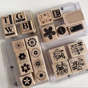 STAMPIN UP Circle Flower Stamp Sets